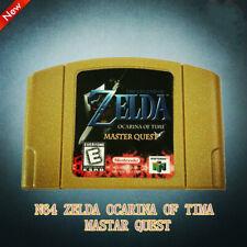 Zelda Ocarina Of Time Master Quest Game Card Gold N64