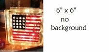 """American Flag Decal Sticker for 8"""" Glass Block DIY Crafts"""
