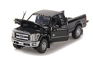 """Ford F250 Super Cab 8 Ft Bed - """"BLACK"""" - Chrome Wheels - 1/50 - Sword #SW1100K"""