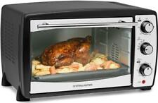 Andrew James Mini Oven with Grill Electric 20L Cooker Table Top Portable Black
