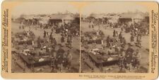 CHINE CHINA Pékin Peking Marché Photo Stereo Vintage Albumine 1901