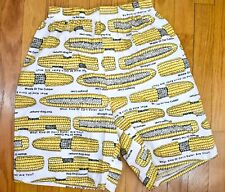 Joe Boxer ~ Vtg Unworn ~ Corn On The Cob ~ Novelty Print Pj Shorts ~ S ~ Risqué