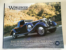 Worldwide Car Auction Houston Classic 2010 Catalog Duesenberg Batmobile GT40