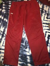 NEW Under Armour Mens Red Athletic Pants Size XXLT