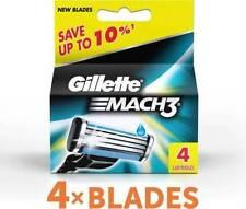 Gillette Mach 3 Cartridges 4 Razor Blades Shaving | For Men | Free Shipping