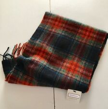 NWT  NEW 100% CASHMERE Men's scarf PLAID Red Green Black FREE SHIPPING