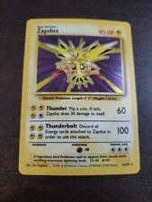New listing Pokemon Base set holo Zapdos Near Mint condition see description
