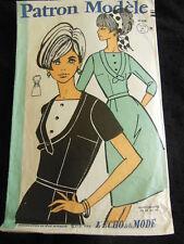 patron ancien jupe corsage cintrée vintage robe taille 42 44 46