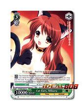Weiss Schwarz Haruhi x 4 Cat Ears, Mikuru [SY/W08-E037 U] English