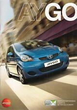 Toyota Aygo 2009-10 UK Market Sales Brochure 3-dr 5-dr + Blue Platinum