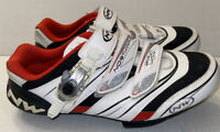 NorthWave White Cycling Shoes AirFlow System Carbon Reinforcement Shimano Sz 9