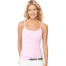 adeacd496bb88e 2 Hanes Women s Stretch Cotton Camis With Built-in Shelf Bra O9342 XL Paleo  Pink
