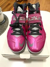 NIKE LEBRON ZOOM SOLDIER VII THINK PINK BREAST CANCER MENS Sz 8