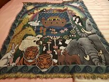 American Weavers Noah's Ark Afghan Throw Blanket