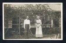 Rppc Garden traveling couple Daytona Florida Volusia County photo Rp postcard