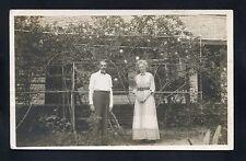RPPC Garden traveling couple Daytona FLORIDA Volusia County photo RP postcard
