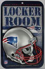NEW ENGLAND PATRIOTS LOCKER ROOM SIGN Helmet Logo NEW Football NFL Styrene USA