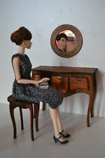 Furniture for Dolls 1/6  FR Barbie Set: console bedside table & chair