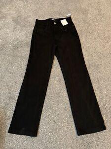 Per Una Roma Rise Black Straight Jeans Size 8 X Short Bnwt Free Sameday Postage