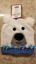 New! Polar Bear Knit Hat with Led Lights