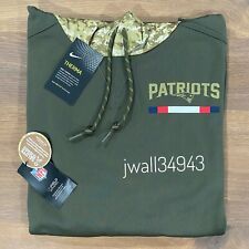 Authentic Nike New England Patriots Salute to Service Hoodie 2017 Mens NFL Olive
