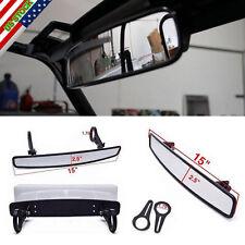 "Universal 1.75"" Clamp  UTV 15"" Rear View Race Mirror Polaris RZR800 XP900 XP1000"