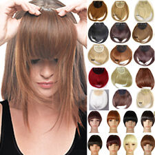 Real Natural Bangs Hair Peices Fringes Clip In Hair Extensions Thick As Human R2