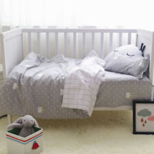 Elephant Horse Baby Nursery Crib Bedding Set Cotton Pillowcase Sheet Quilt Cover