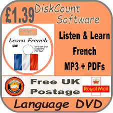 Listen & Learn French Language Courses CD  mp3 audio & text