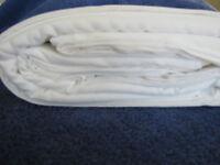 Crisp White 400TC Luxury Soft Queen Duvet Comforter Cover Percale Cotton 128