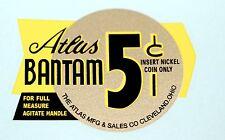 ATLAS BANTAM 5 CENT, BLACK AND GOLD  WATER SLIDE DECAL # DA 1064