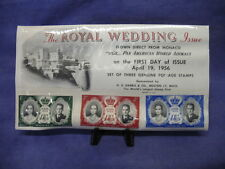 The Royal Wedding Issue Air Mail First Day Event Cover 4/19/1956 #012