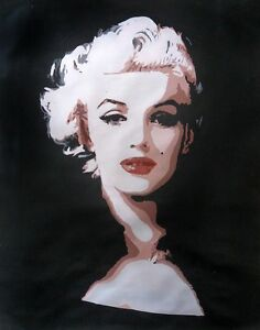 Marilyn Monroe oil painting NOT a print poster.Hand painted art framing avail.