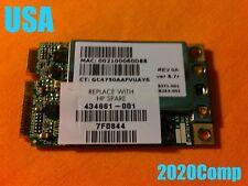 TESTED!!!  HP DV9000 ** WiFi Wireles Card ** 434661-001