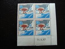 monaco - timbre yvert et tellier N°733 x4 N (coin date 15/9/67)-stamp monaco