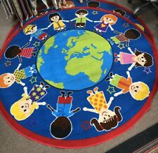"""GROUND-PLAY LEARNING KIDS MAT 200x200cm (6'7""""x6'7"""") NON-SLIP, WASHABLE COLOURFUL"""