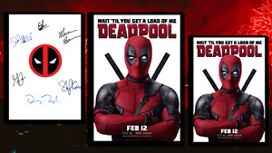 Deadpool Script/Screenplay & Movie Poster And Autographs Signed Print