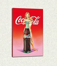 Mel Ramos coca Cola girl 90 x 60 cm Druck auf Leinwand Gemälde Leinwand