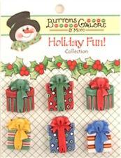 3D Holiday Fun Collection - Christmas Presents - 6 Button Card