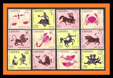 Doce signos del zodiaco 1968 colonias españolas Rio Muni Sahara Fernando Poo IFNI estampillada sin montar o nunca montada