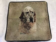 """English Setter Dog head portrait Zippered 17"""" Pillow Cover Cotton Tapestry New"""