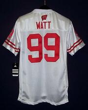 Adidas Wisconsin Badgers #99 J. J. Watt Sewn White Road Jersey YOUTH XL Style #2