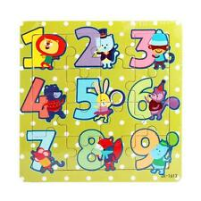 Wooden Kids 16 Piece Jigsaw Toys Education And Learning Puzzles Toys HOT2