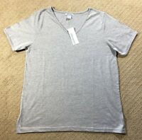 NWT Women's Silhouettes Short Sleeve Knit V-Neck T-Shirt Top