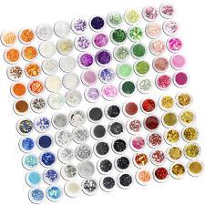 100Pcs Vary Glitter Uv Acrylic Nail Art Decoration Power Lace Heart Set