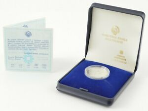 1983 Yugoslavia 100 Dinara Winter Olympics Silver Proof Display Box & COA *966