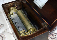 1840 Henriot Badel or Lecoultre Antique Cylinder Music Box 4 Airs 84 Tooth VIDEO