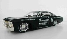 1967 Chevy Impala Lowrider Jack Daniels Custom Graphics 1/24 Black Diecast