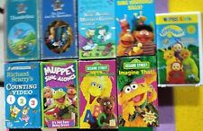 Sesame Street videos VHS Muppets Ernie Bert Teletubbies and much more 9 in total