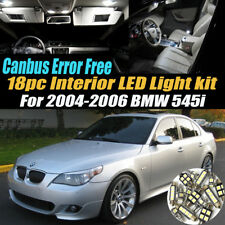 18Pc CANbus Error Free Car Interior LED White Light Kit for 2004-2006 BMW 545i